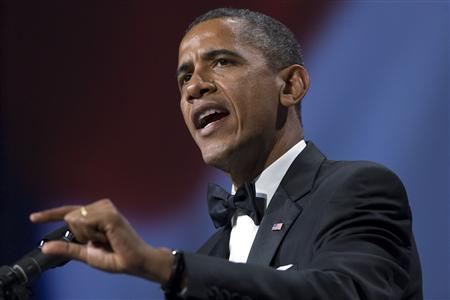 Obama makes a point during remarks at the Congressional Hispanic Caucus Institute's awards gala in Washington