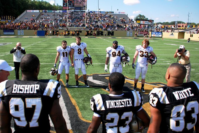 Shots from Western Michigan's 44-14 win over Central - Sept 17, 2011.  Photos by Sean Patrick Duross.