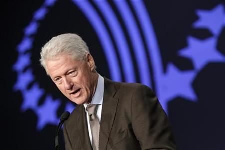 Former U.S. President Bill Clinton speaks at the Clinton Global Initiative in Chicago