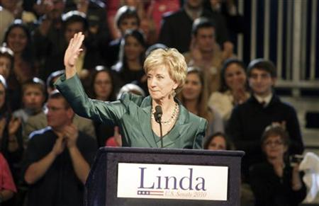 In this file picture, Senate Republican candidate Linda McMahon of Connecticut delivers her concession speech in Hartford