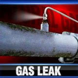 Gas leak graphic