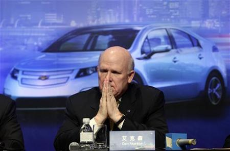 GM Chief Executive Daniel Akerson pauses in Beijing
