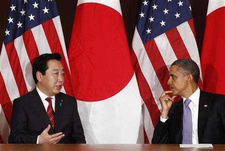 President Barack Obama meets Japanese Prime Minister Yoshihiko Noda at the United Nations in New York