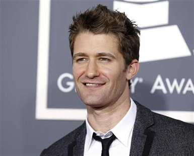 Matthew Morrison from the television show 'Glee' poses on arrival at the 53rd annual Grammy Awards in Los Angeles