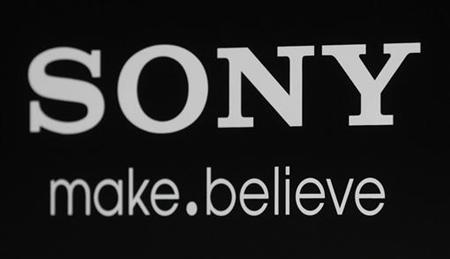 "The Sony logo and slogan are pictured on a backdrop at a special screening of the new film ""Colombiana"" in Los Angeles"