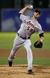 Detroit Tiger pitcher Doug Fister.  Fister picked up the win vs. Kansas City on Wednesday, September 21, 2011.