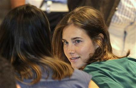 Amanda Knox, the U.S. student convicted of killing Kercher in Italy on November 2007, attends her appeal trial session in Perugia