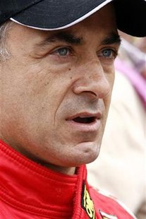 France's Ferrari F430 driver Jean Alesi is seen before the Le Mans 24 Hours sportscar race in Le Mans