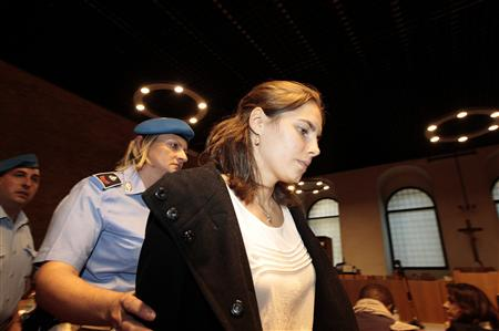Knox, the U.S. student convicted of murdering her British flatmate Kercher, arrives in court for her appeal trial session in Perugia