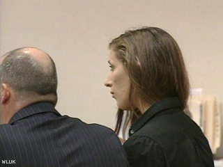 Mariah Pyatskowit appears in Outagamie County court for her sentencing, Sept. 26, 2011. (courtesy of FOX 11).