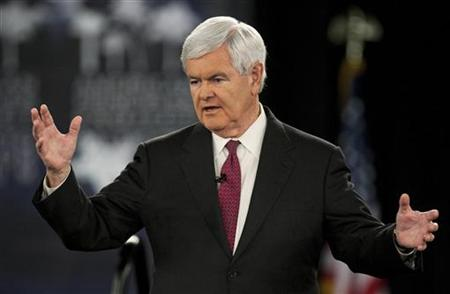 U.S. Republican presidential candidate and former Georgia Congressman Newt Gingrich speaks during the American Principles Project Palmetto F