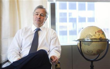 Jamie Dimon, CEO and chairman of JPMorgan Chase & Co., poses for a portrait in his office in New York