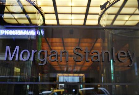 The entrance to the Morgan Stanley headquarters is seen in New York
