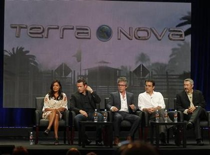 "Cast and producers of ""Terra Nova"" at the FOX Summer TCA Press Tour in Beverly Hills"