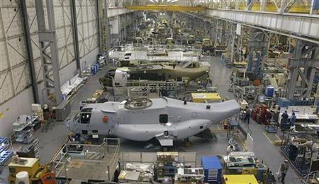 File photo of Osprey assembly line at Boeing's Ridley Park plant in Pennsylvania