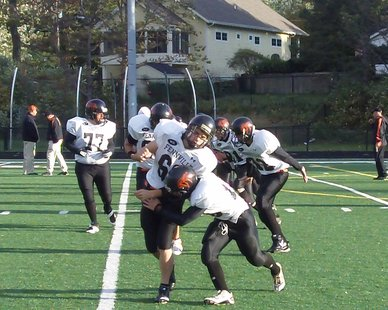 Fennville High players prepare for the Sept. 30, 2011 game at Saugatuck High.