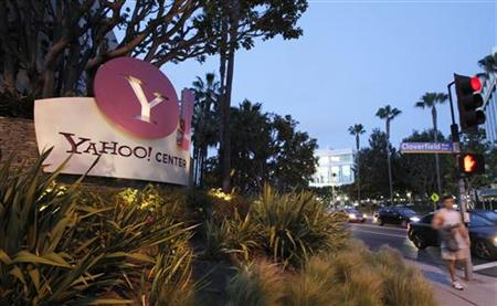 The Yahoo! offices are pictured in Santa Monica, California April 18, 2011. Yahoo! will report its quarterly results on Tuesday.