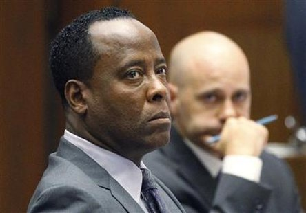 Dr. Conrad Murray attends his trial in the death of pop star Michael Jackson in Los Angeles
