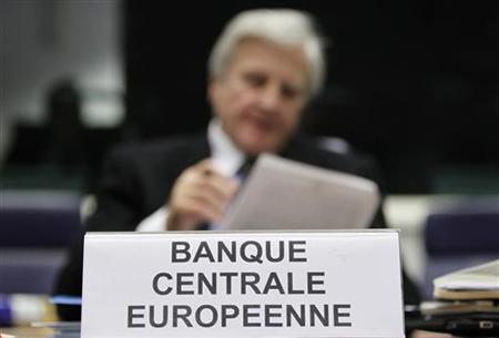 ECB President Jean-Claude Trichet waits for the start of a meeting in Luxembourg
