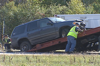 Crash on Highway 41 in Marinette County on Tuesday October 4, 2011. (courtesy of FOX 11).