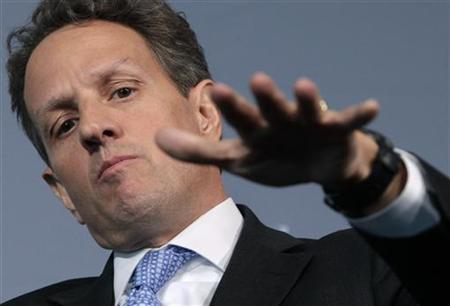 Treasury Secretary Geithner attends the Washington Ideas forum