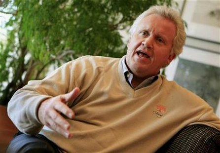 General Electric Chairman and Chief Executive Officer Jeffrey Immelt is seen during interview with Reuters in his office at GE Corporate Hea