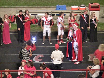 2011 Coldwater High School Homecoming Queen Hannah Ford and Homecoming King Skylar Watson
