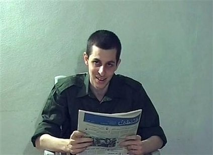 File still image taken from video of Captured Israeli soldier Gilad Shalit