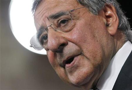 U.S. Secretary of Defense Panetta addresses a news conference during a NATO defence ministers meeting at the Alliance headquarters in Brusse