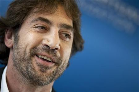 Spanish actor Bardem attends a news conference at the World Intellectual Property Organization (WIPO) headquarters in Geneva