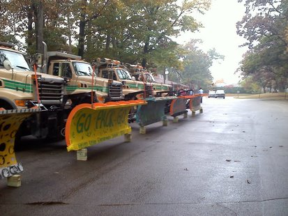 Decorated City of Green Bay snow plows