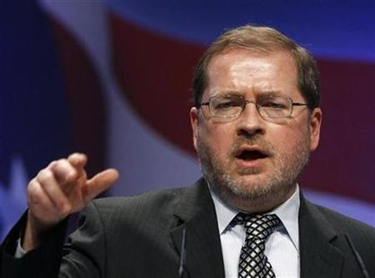 Americans For Tax Reform member Grover Norquist speaks at the 38th annual CPAC meeting in Washington