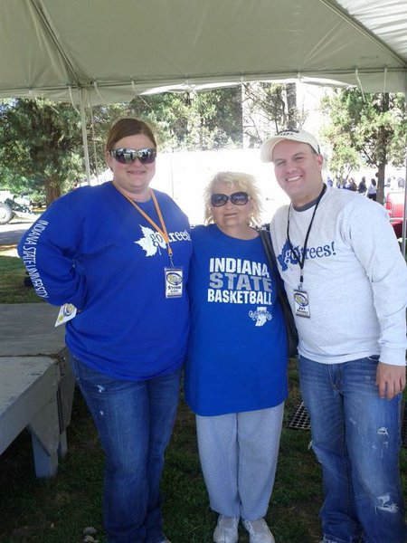 Jay and Storm met Lisa at the ISU Homecoming Tent City!