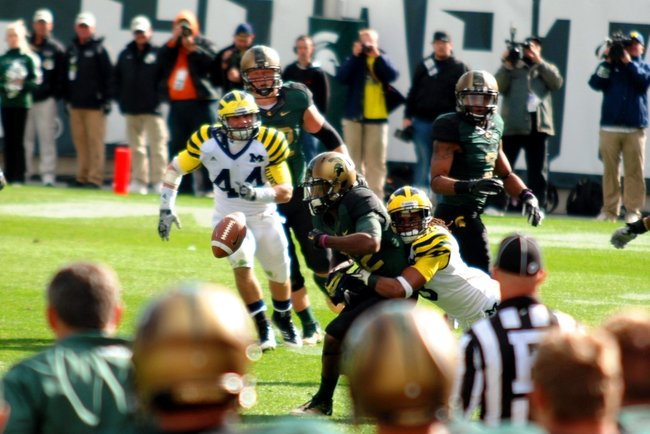 Photos from Michigan State's 28-14 win over Michigan - Oct 15, 2011.  Photos by Sean Patrick Duross.