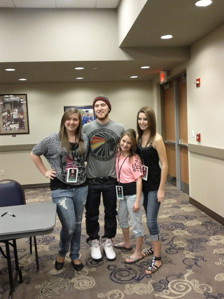 Mike Posner with Mariah, Logan and Chelsea