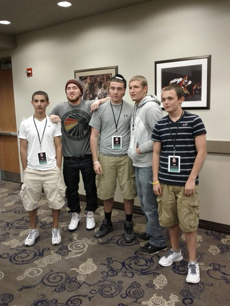 Mike Posner With Zack, Matt, Jim and Woodchuck