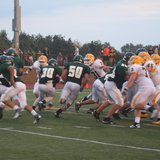 Action earlier this year at Zeeland Stadium when West defeated East (photo courtesy Zeeland Public Schools).