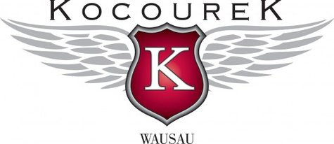 The logo for Kocourek dealerships in Wausau and the Wausau Metro