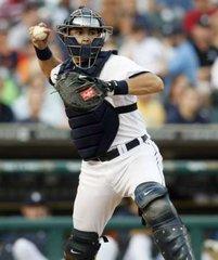 Detroit Tigers catcher Alex Avila.  REUTERS