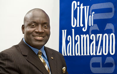 Current Kalamazoo Mayor Bobby Hopewell is running for re-election Tuesday.