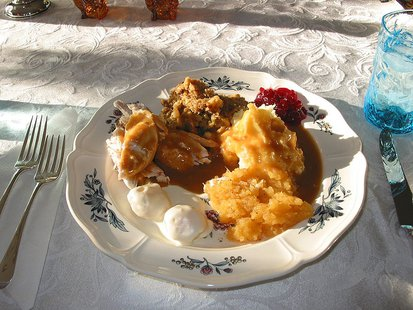 Thanksgiving Dinner, Falmouth, Maine, USA 2008 By Alcinoe (Own work) [Public domain], via Wikimedia Commons