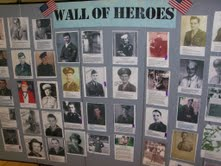 Veterans Day Wall At H & C Burnside Center