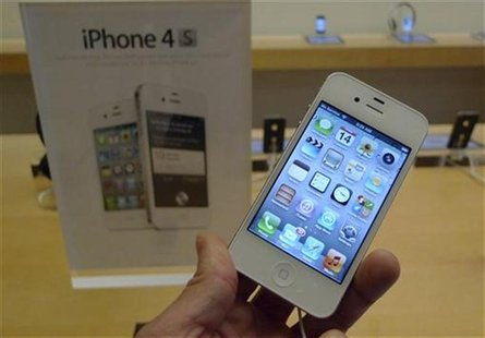 An iPhone 4S is shown on display at an Apple Store in Clarendon