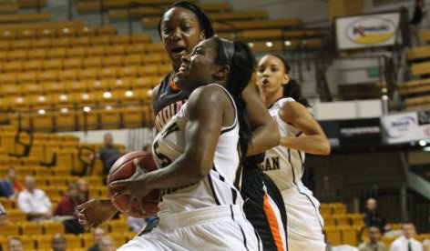 WMU Broncos women's basketball.  Photo courtesy of wmubroncos.com.