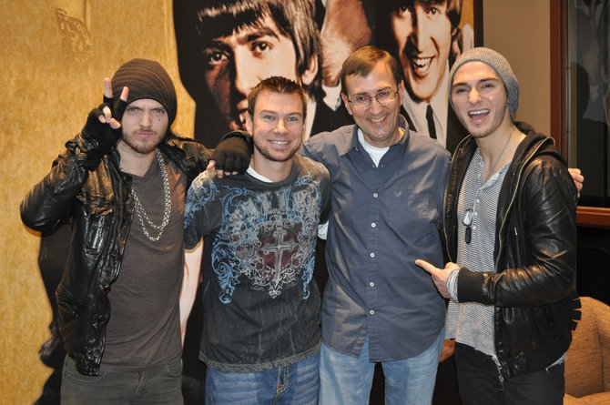 The Cab performed acoustically in Green Bay at our sister station on 11/19/11.  Mike Mathers and Tony Waitekus made the trip to see them.
