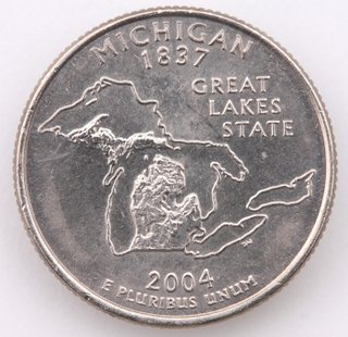 Michigan state quarter.