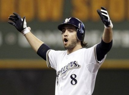 Ryan Braun of the Milwaukee Brewers (Reuters)