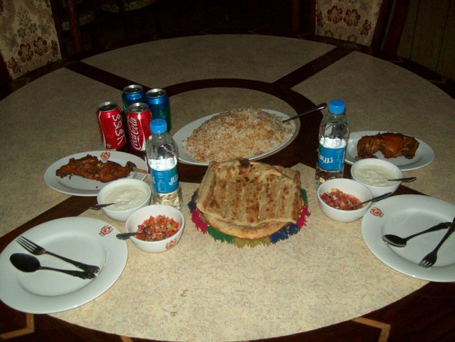 Invited for an authentic Afghan lunch...deep fried chicken and
