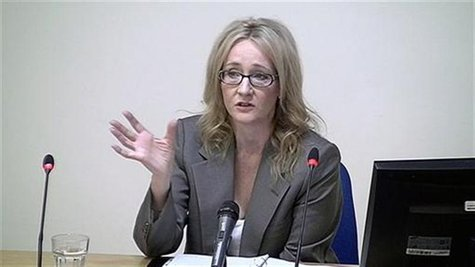 Author JK Rowling speaks at the Leveson Inquiry at the High Court in central London