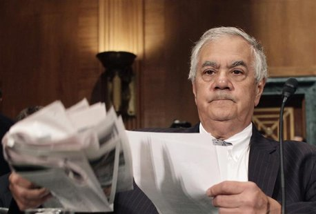 Rep. Barney Frank testifies before the Senate Banking, Housing and Urban Affairs Committee
